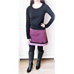 ROCK A-Linie Frauenrock Damenrock Einzelstück UNIKAT Größe 34-36 Weinrot Dunkelgrün Paisley Rosa Ivory Rose Frauen E
