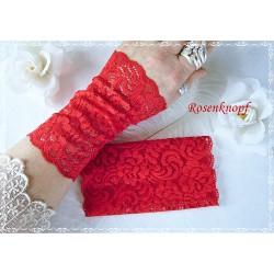 Spitzenstulpen Rot Damen Braut E