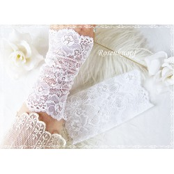 Spitzenstulpen Braut Weiß Damen