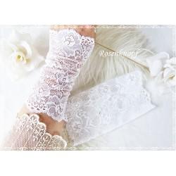 Spitzenstulpen Braut Weiß Damen E