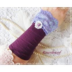 Armband JULIETTE  Rosa Weiß Spitze Tüll Glasstein
