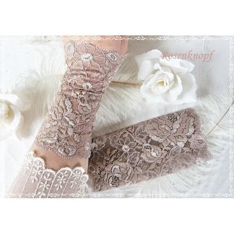 STULPEN Brautstulpen Armstulpen Spitzenstulpen Reinweiß Weiß Damenstulpen Handstulpen Pulswärmer Spitze Frauen Hochzeit