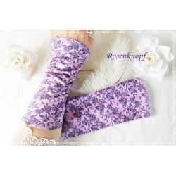 Stretchstulpen Violett Lavendel Geblümt K