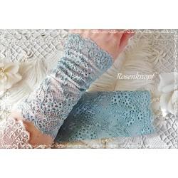 STULPEN Brautstulpen Jade Aqua Armstulpen Spitzenstulpen Damenstulpen Handstulpen Pulswärmer Spitze Braut Hochzeit Ball E