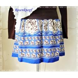 Rock Damenrock Blau Ivory Upcycling A-Linie Größe 38-40 Frauenrock Einzelstück Unikat Frauen E+K