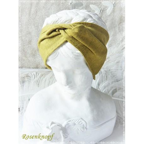 Haarband Stirnband Rotbraun Ocker Grün Anthrazit Knoten Stirnband  Jersey Turban Elastisch Paisley Geschenk  E+K