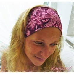 Haarband Stirnband Petrol Türkis MInt Knoten Stirnband Jersey Turban Stretchband Geblümt Geschenk E+K