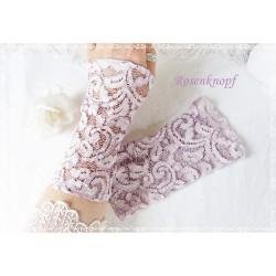 STULPEN Brautstulpen Rosè Altrosa Armstulpen Spitzenstulpen Damenstulpen Handstulpen Pulswärmer Spitze Hochzeit Damenmode
