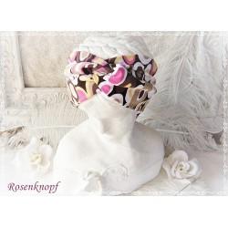 Haarband Stirnband Pink Braun Ocker Jersey EK