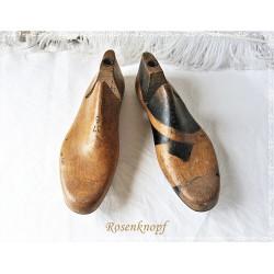 Schuhleisten-Holz-Rohling-Vintage-Shabby-Anitk-1900 E