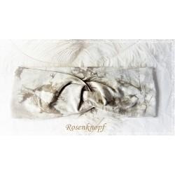 Haarband Stirnband Ivory Braun Beige Gemustert Knoten Stirnband  Stretch Turban Elastisch Paisley Geschenk