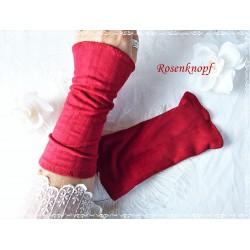 Stretchstulpen Rot Unikat Damen