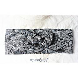 Haarband Stirnband Grau Schwarz  E+K