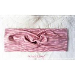 Haarband Stirnband Pink Fuchsia Rosa Knoten Stirnband Jersey Turban Stretchband Geblümt Geschenk E+K