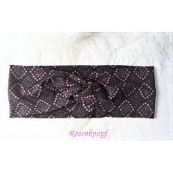 Haarband Stirnband Anthrazit Violett Knoten Stirnband Jersey Turban Elastisch Geschenk  K