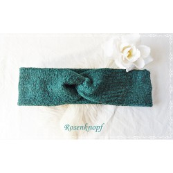 Haarband Stirnband Petrol Knoten Stirnband Unikat Stretchband Damenhaarband Elastisch Geschenk K