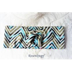 Haarband Stirnband Jade Grün Grau Knoten Stirnband Stretchband Damenhaarband Elastisch Geschenk K