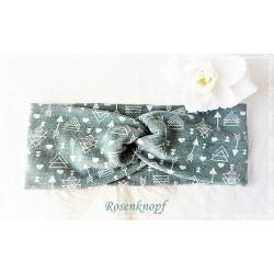 Haarband Stirnband Jade Upcycling Knoten Stirnband Stretchband Damenhaarband Elastisch Geschenk K