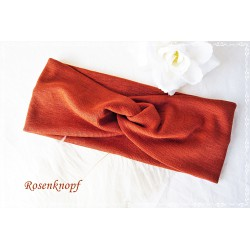 Haarband Stirnband Rot Weinrot Knoten Jersey Turban Elastisch Damenhaarband Geschenk  K