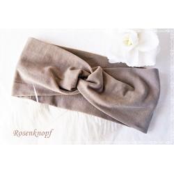 Haarband Stirnband Altrosa Knoten Stirnband Jersey Turban Stretchband Geschenk  E+K