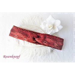 Haarband Stirnband Rostorange Elastisch Damen Geschenk  K