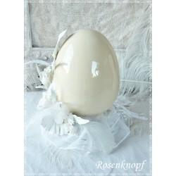 Ostergesteck Keramikei Weiß Rosa Unikat E+K