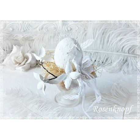 Ostergesteck Keramikei Weiß Ivory Unikat E*K