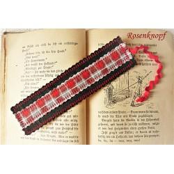 Lesezeichen Schwarz Rot Grau Herren