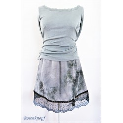 Damenrock Schwarz Weiß Unikat Größe 36-38
