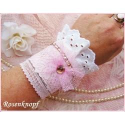 Armband Brautschmuck Rosa Weiß