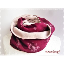 Damenloop Schal Bordeaux Rosa Unikat  K