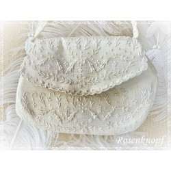 Handtasche Ivory Damen Vintage 19.Jhdt