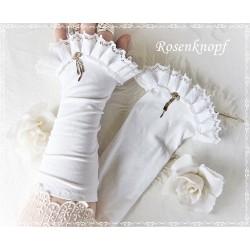 Stulpen Weiß Braut Fleece Damen E K