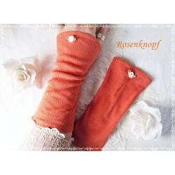 Stretchstulpen Orangerot Rose Damen  K
