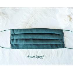 Behelfsmaske Smaragd Mundbedeckung Mundmaske Damen Herren