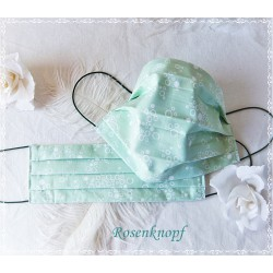 Behelfsmaske Mint Weiß Mundbedeckung Mundmaske Kochfest
