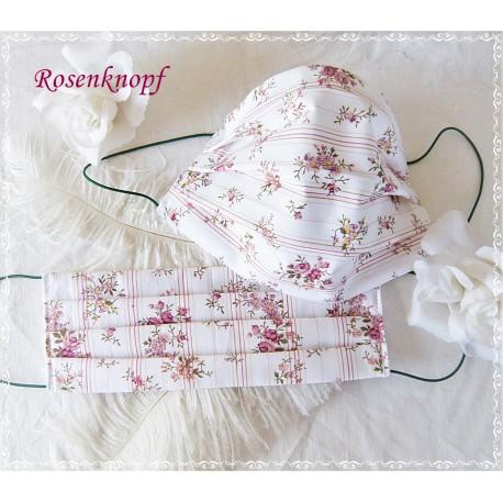 Behelfsmaske Vanille-Rosen Mundbedeckung Mund- Nasenmaske