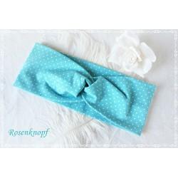 Haarband Stirnband Mintblau PusteblumenKnoten Stirnband Stretchband Damenhaarband Elastisch Geschenk E+K