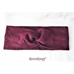 Haarband Stirnband Weinrot Damen E K