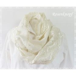 Loopschal Braut Ivory Unikat  E K