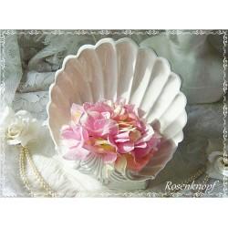 GESTECKSCHALE Blumen Vintage Weiß Muschel Italien
