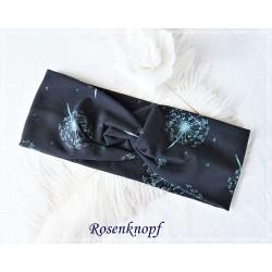 Haarband Stirnband Petrol Schwarz E K