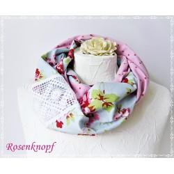 Loopschal Hellblau Rosa Rosa Damen K