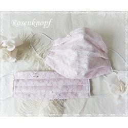 Behelfsmaske Braut Weiß Rosa Tüll Mundbedeckung