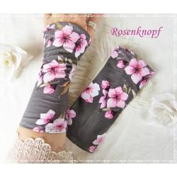 Stretchstulpen Jersey Grau Rosa K