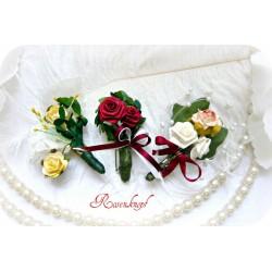 Anstecker Brosche ROSEN Vintage Blumen Hochzeit