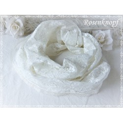 Loopschal Braut Ivory Unikat