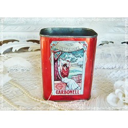 Shabby OLIVENÖL DOSE Vintage Jugendstilmotive