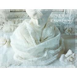 Loopschal Braut Ivory Unikat  K