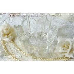 GLASSCHALE Vintage Blütenform